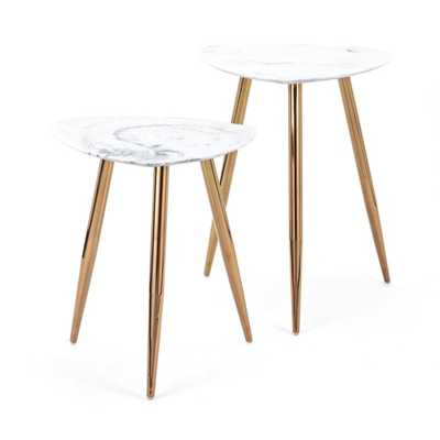 Presto Faux Marble Tables - Set of 2 - Mercer Collection