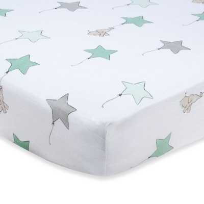 aden + anais® 100% Cotton Muslin Crib Sheet in Up, Up & Away - Buy Buy Baby