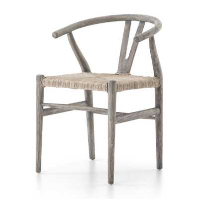 Muestera Weathered Grey Dining Chair - Crate and Barrel