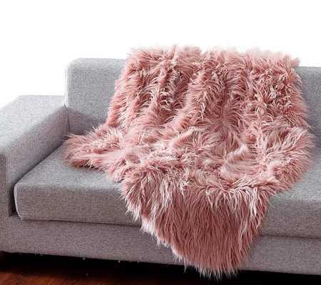 Wadhurst Mongolian Soft Shaggy Faux Fur Throw - Wayfair