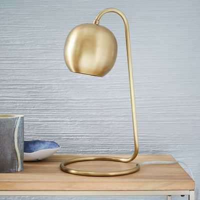 Scoop Table Lamp- Antique Brass - West Elm