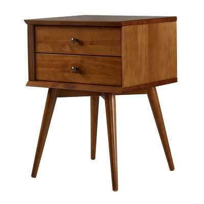Grady Mid-Century 2 Drawer Nightstand - Wayfair