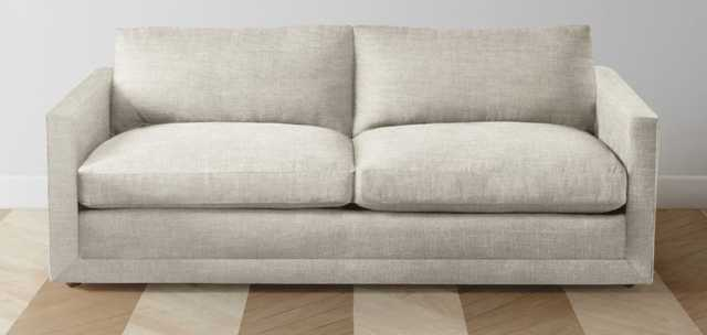 "The Warren Sofa - CUSTOM, Natural Washed Linen, 75"" - Maiden Home"