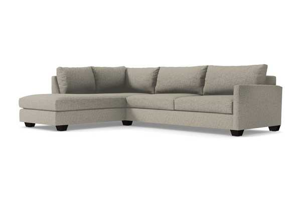 Tuxedo 2pc Sectional Sofa - Straw - Espresso leg / LAF- Chaise on the Left - Apt2B