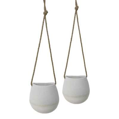 Natural And White Dipped Hanging Planter - World Market/Cost Plus
