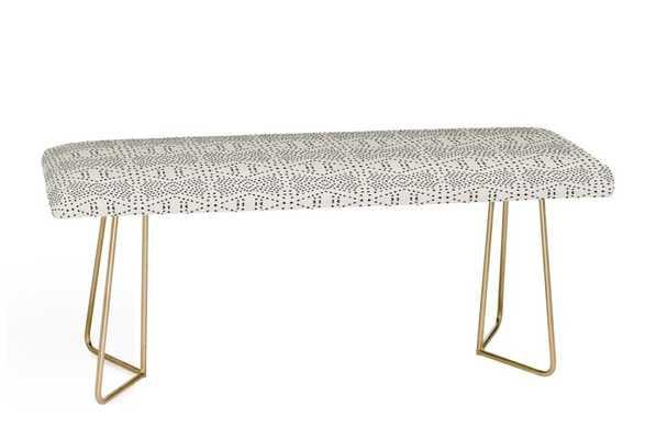BOHO TILE Bench By Holli Zollinger- Gold Aston Legs - Wander Print Co.