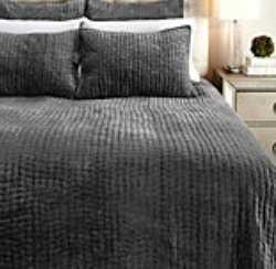 Mardon Bedding- Charcoal- Queen Quilt - Z Gallerie