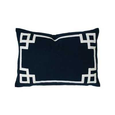 "NAVY DECO PILLOW - 16x26"" Without Insert - Caitlin Wilson"