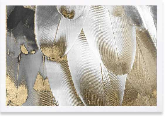 'Royal Feathers Abstract Art' Wrapped Canvas Print - AllModern