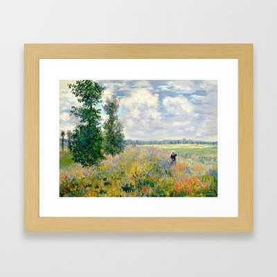 Poppy Fields near Argenteuil by Claude Monet Framed Art Print - Society6