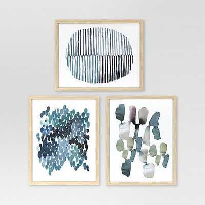 Framed Watercolor Blue Abstracts 16 x 20 3-Pack - Project 62™ - Target