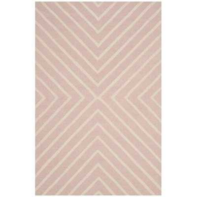 Brenner Hand-Tufted Wool Pink/Ivory Area Rug - Wayfair