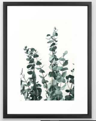 """Eucalyptus Leaves Framed Art Print -  20"""" X 26"""" - Vector Black Frame - Society6"""
