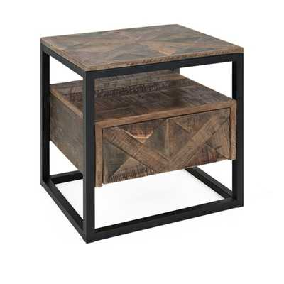 Loxias Reclaimed Wood Accent Table - Mercer Collection