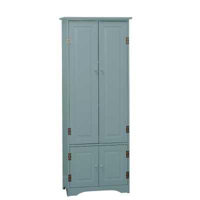 Avis 4 Door Accent Cabinet- Antique blue - Wayfair