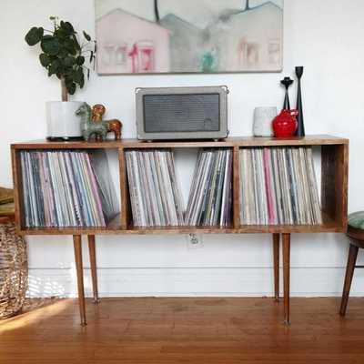 Mid Century Vintage Record Cabinet Custom Maple Handmade Vinyl LP Storage - Etsy