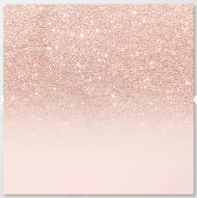 Rose gold faux glitter pink ombre color block Canvas Print - Society6