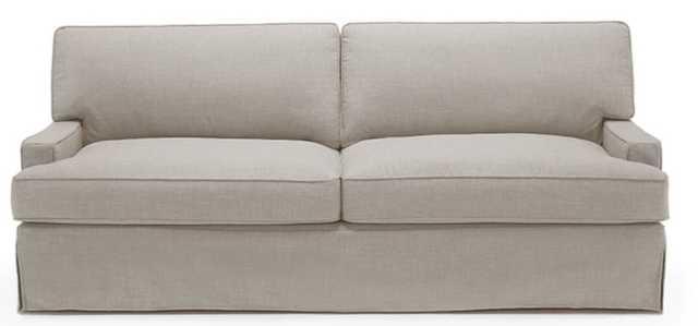 Presley Slipcover Sofa in Cody Sandstone, Safeguard fabric - Joybird
