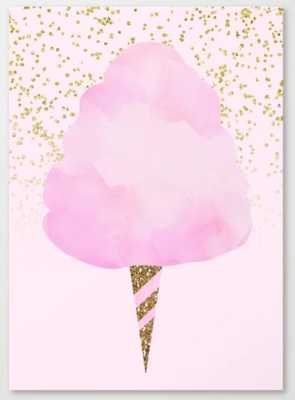 Pink & Gold Glitter Cotton Candy Canvas Print - Society6
