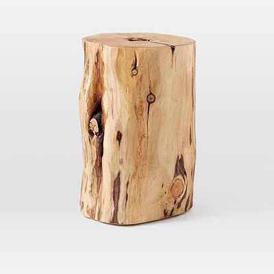 Natural Tree-Stump Side Table - West Elm