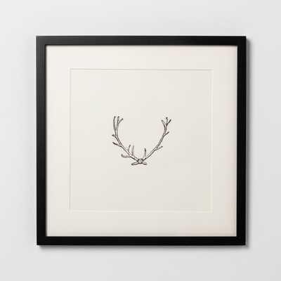 """Framed Wall Art Antlers 14x14"""" - Hearth & Hand™ with Magnolia - Target"""