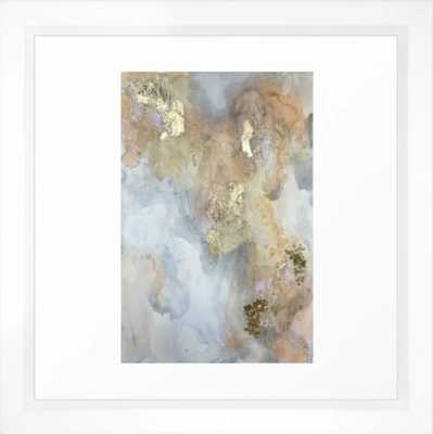 "Reef Framed Art Print White Frame 12""x12"" - Society6"