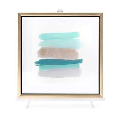 TY Blue Line Art Acrylic Framed Wall Decor w/Easel - Mercer Collection