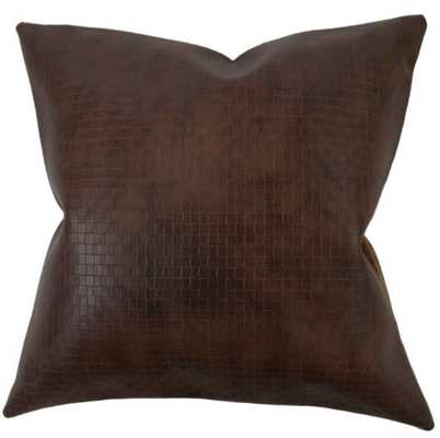NARGES SOLID PILLOW DARK BROWN pillow cover only - Linen & Seam