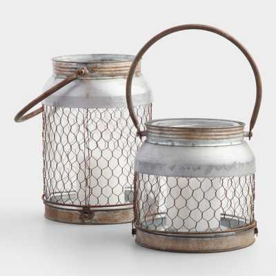 "Galvanized Wire Lantern - 7.75"" by World Market 7.75"" - World Market/Cost Plus"
