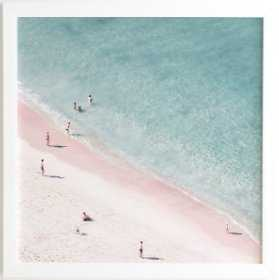 "Beach Family Love Framed Art Print - 30""x30"" - Wander Print Co."