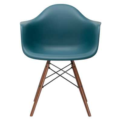 Quintus Dining Chair, Teal Walnut Legs - Wayfair