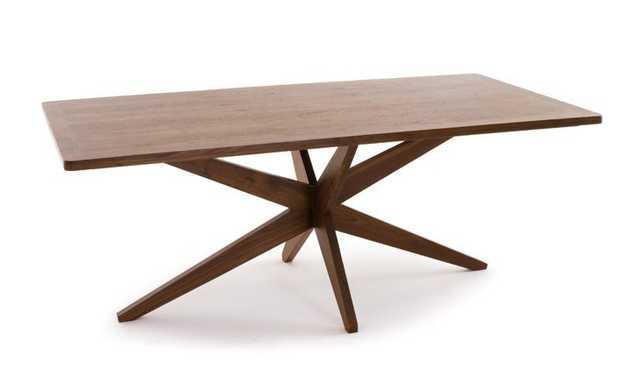 Jax Mid Century Modern Dining Table - Walnut - Joybird