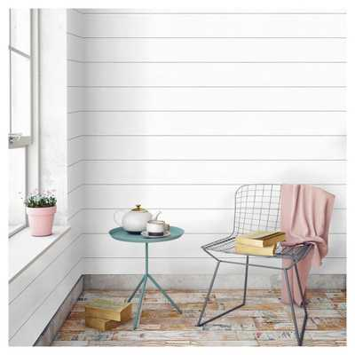Devine Color Textured Shiplap Peel & Stick Wallpaper -Ultra White - Target