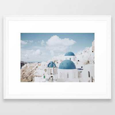Santorini III / Greece Framed Art Print - Society6