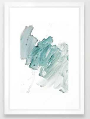 brushstrokes 11 aquamarine - vector white, 15x21 - Society6