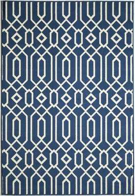 Halliday Blue Indoor/Outdoor Area Rug - AllModern
