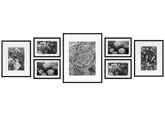 7 Piece Alisson Gallery Wall Aluminum Picture Frame Set-Black - Wayfair
