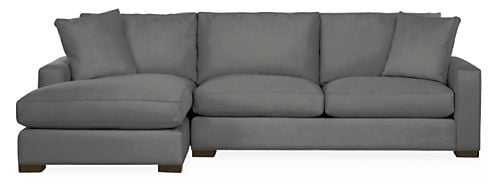 """Metro Sectionals, 112"""" sofa with left arm chaise - Room & Board"""