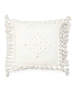 "Montecito Outdoor 24""SQ Pillow Cover - Ivory - Insert sold separately - Serena and Lily"
