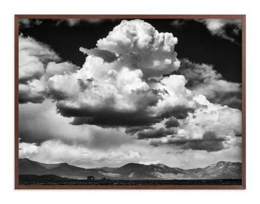 Thunderhead Dance - 40 x 30, walnut wood frame - Minted