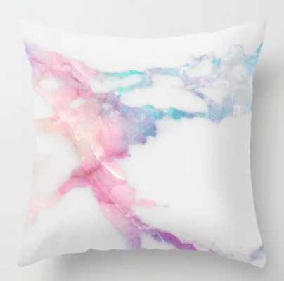 Unicorn Vein Marble Throw Pillow - Society6