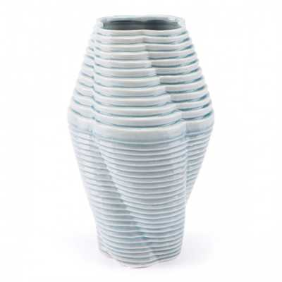 Twisted Md Vase Blue - Zuri Studios