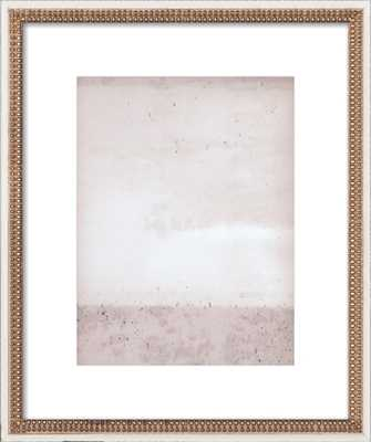 """Overcast - Soft Pinks, 20x24"""", Ornate - Distressed Cream Double Bead Wood Frame with Matte - Artfully Walls"""