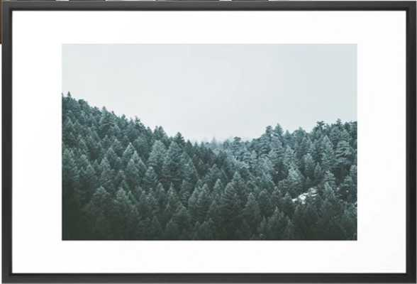 Frosted Green Framed Art Print - Society6