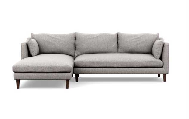 Caitlin by The Everygirl Chaise Sectional in Earth Fabric with - Interior Define