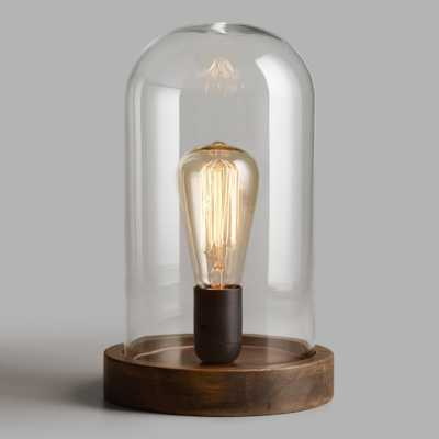 Edison Glass Cloche Table Lamp: Brown by World Market - World Market/Cost Plus