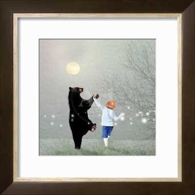 "MOONLIGHT DANCE, 16""X16"" Rhapsody framed art print with 2.5"" Crisp - Bright White mat - art.com"