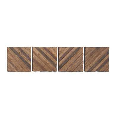 Rustic Diagonal Lines Wall Décor - Wayfair