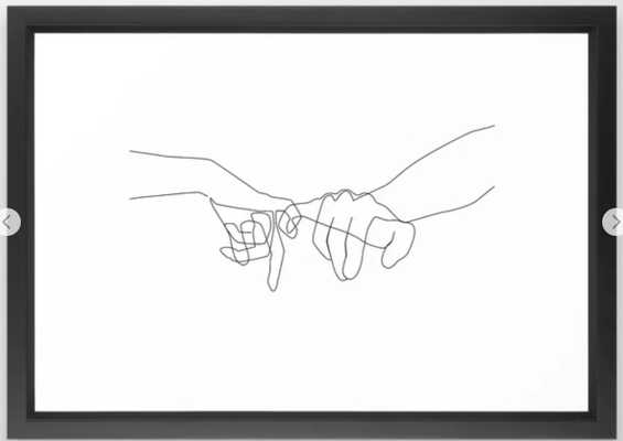 Pinky Swear Framed Art Print by Explicit Design - Society6