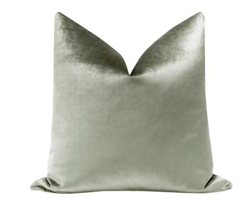 """Faux Silk Velvet // Pistachio - 20"""" X 20"""" - Little Design Company"""